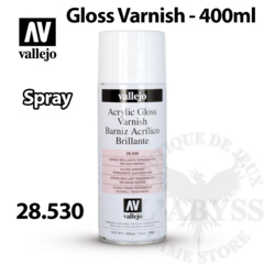 Vallejo Acrylic Spray Varnish - Gloss 400ml - Val28530