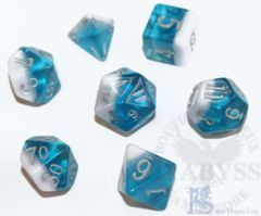 7 Polyhedral LD Birthday Dice Set March Aquamarine - LD-BDAQU3