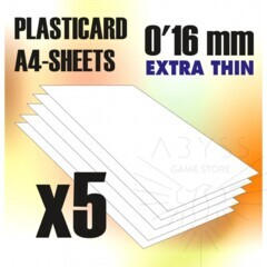 ABS Plasticard A4 Sheets 0.16mm x5 (9313)