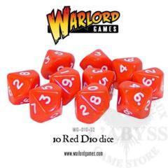 10 D10 Warlord Games Red (WG-D10-32)