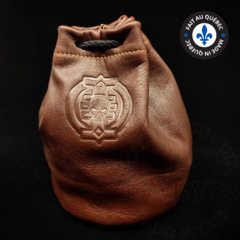 Premium Leather Dice Bag - Inquisition Brown Large
