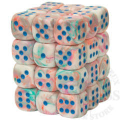 36 D6 Festive 12mm Dice Pop Art Blue - CHX27944