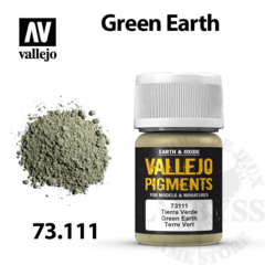Vallejo Pigments - Green Earth 35ml - Val73111