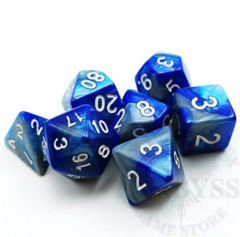7 Mini Polyhedral LD Dice Set Steel Blue - LD-MST