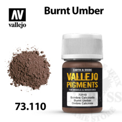 Vallejo Pigments - Burnt Umber 35ml - Val73110