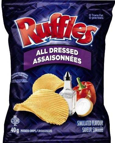 Chips Ruffles All Dressed