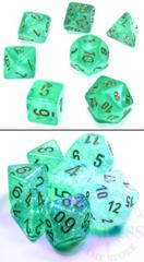 7 Polyhedral Dice Set Borealis Luminary Light Green / Gold - CHX27575