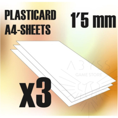 ABS Plasticard A4 Sheets 1.5mm x3 (9107)
