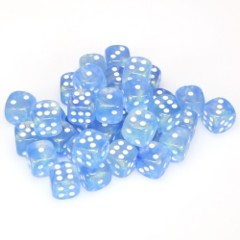 36 D6 Borealis 12mm Dice Sky Blue / White - CHX27826