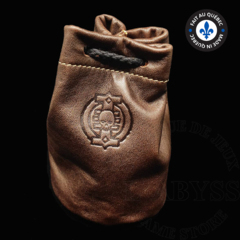 Premium Leather Dice Bag - Inquisition Brown Small