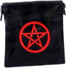 Dice Bag Pentagram Black - Red