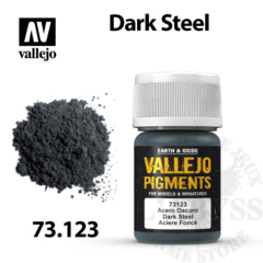 Vallejo Pigments - Dark Steel 35ml - Val73123