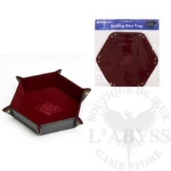 SD DICE HEX TRAY Burgundy w/ copper buttons