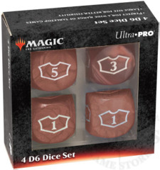 Ultra-Pro MTG Deluxe Loyalty 4D6 Dice set - Mana Red (86829)