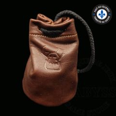 Premium Leather Dice Bag - Ork Brown Small