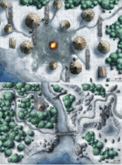 D&D: Game Mat - Icewind Dale Encounter Map Set (20