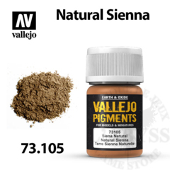 Vallejo Pigments - Natural Sienna 35ml - Val73105