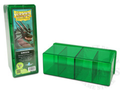 Dragon Shield Four-Compartment Storage Box - Green