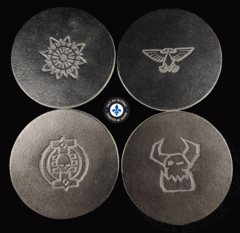 Premium Leather Coasters - Round Black