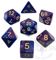 7 Polyhedral Abyss Dice Set IV Emperor - AD009