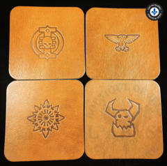 Premium Leather Coasters - Square Brown