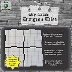 Dry Erase Dungeon Tiles - 36 double-sided tiles 5