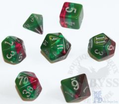 7 Polyhedral LD Birthday Dice Set October Tourmaline - LD-BDTOU3
