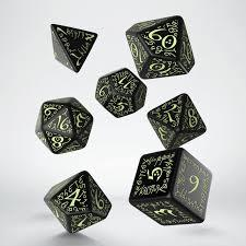 Elven Dice Set - Glow in the dark