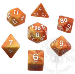7 Polyhedral Abyss Dice Set IXX Sun - AD024
