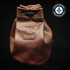 Premium Leather Dice Bag - Ork Brown Large