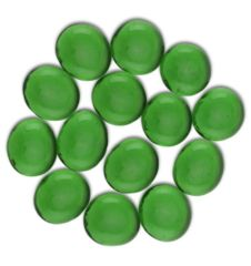 Glass Stone Gaming Counters - Emerald Green 30