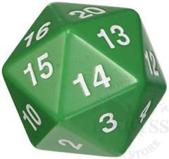 Jumbo Spindown D20 55mm Green - KOP14798