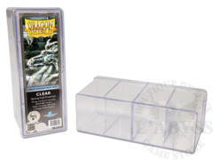 Dragon Shield Four-Compartment Storage Box - Clear
