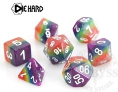 7 Polyhedral RPG Set - Rainbow