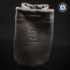 Premium Leather Dice Bag - Ork Black Small