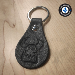 Premium Leather Keychain - Ork Black