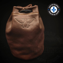 Premium Leather Dice Bag - Aquila Brown Large