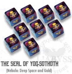Elder Dice - 9 D6 Seal of Yog-Sothoth - Nebula (ED6-G01)