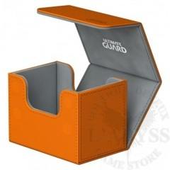 Ultimate Guard Flip'N'Tray Deck Case 80+ Standard Size Xenoskin Orange