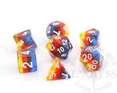 7 Polyhedral RPG Set - Translucent Dusk Gradient