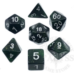 7 Polyhedral Abyss Dice Set Ashashin - AD038