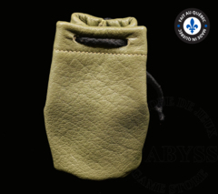 Premium Leather Dice Bag - Green Small