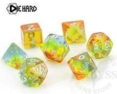 7 Polyhedral RPG Set - Translucent Sunrise Gradient