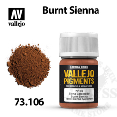 Vallejo Pigments - Burnt Sienna 35ml - Val73106