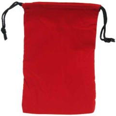 Cloth Dice Bag- Large Red