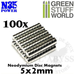 GSW Neodymium Magnets 5mm x 2mm N35 (100)