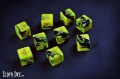 Elder Dice - 9 D6 The Yellow Sign of Hastur ( ED6-Y01 )