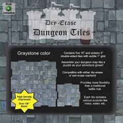 Dry Erase Dungeon Tiles, Graystone – Pack of 5 10