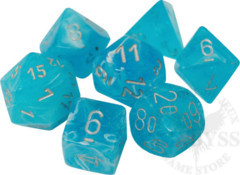 7 Polyhedral Dice Set Luminary Sky with Silver - CHX27566