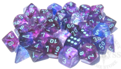 7 Polyhedral Dice Set -Nebula- Nocturnal with blue - CHX 30013